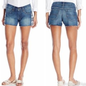 Lucky Brand | Embroidered 'The Cut Off' Shorts